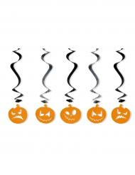 5 grimaserande pumpor till Halloweenfesten