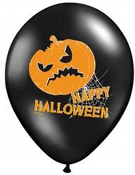 6 Latexballonger med pumpatryck till Halloween