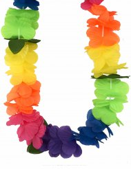 Hawaiihalsband i mångafärger för vuxna till maskeraden