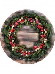 10 tallrikar med vacker julkrans