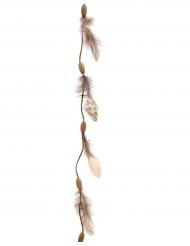 Fjäder- och trähänge 116 cm