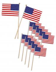 12 USA-flaggor 11 x 7,5 cm