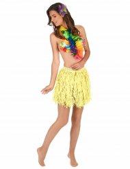 Kort gul Hawaiikjol i papper för vuxna