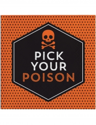 Pick yout poison - 16 Halloweenservetter 33 x 33 cm