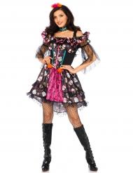 Klänning till Dia de los Muertos - Halloweenkostym för vuxna