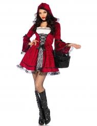 Lilla rödluvan med svarta spetsdetaljer - Maskeradkläder för vuxna