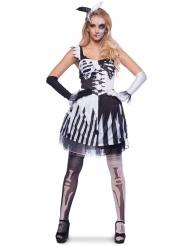 Kontrastfyllt skelett - Halloweenkläder för vuxna