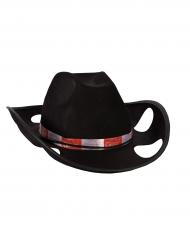Cowboyhatt med burkhållare - Maskeradhattar