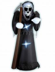 Uppblåsbara liemannen 122 cm - Halloweendekoration med ljus
