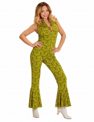 Gröna discodansande Gertrud - Maskeradkläder för vuxna
