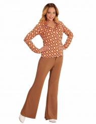 Groovy 70-talsskjorta till maskeraden för vuxna