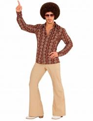 Discoskjort med brunt tryck till maskeraden