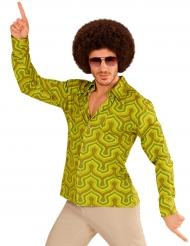 Grön och groovig skjorta - Maskeradkläder för vuxna
