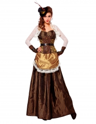 Steampunkig långklänning i barockstil