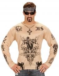 T-shirt med tatueringar - Maskeradkläder för vuxna