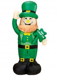 Uppblåsbar Leprechaun med ljus till St. Patrick