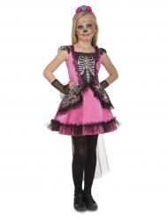Rosa skelettklänning barn