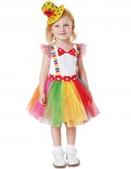 Clownette - Maskeraddräkt för barn