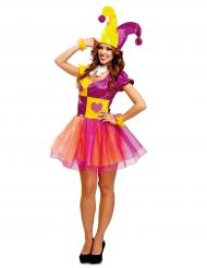Hjärter clown - Maskeradkläder för vuxna