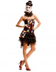 Clownklänning för vuxna till maskeraden