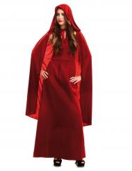 Röd häxa - Halloweenkläder för vuxna