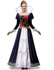 Lyxig drottningdräkt för vuxna till medeltida temafest