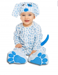 Lyxig blå hundvalpsdräkt bebis