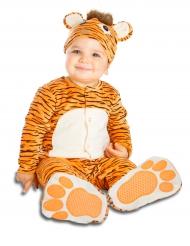Lyxig tigerdräkt med napp bebis