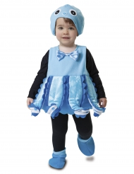 Blå bläckfiskdräkt bebis