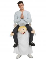 Buren av en ängel - Carry Me-dräkt för vuxna till jul