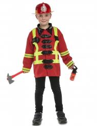 Modig brandman - Maskeraddräkt med tillbehör för barn