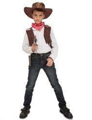 Cowboydräkt för barn med tillbehör