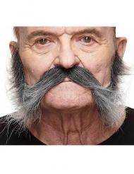 Vild mustasch med polisonger vuxen