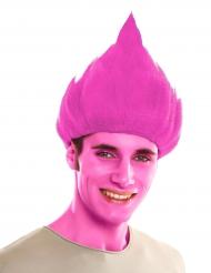 Rosa trollperuk för vuxna till maskeraden