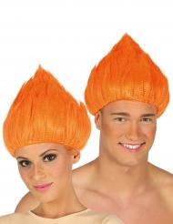 Orange trollperuk vuxen