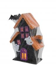 Spökhus med ljus - Halloweendekoration 30 cm