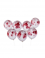 Blodiga händer - 8 Ballonger till Halloweenpartyt 30 cm