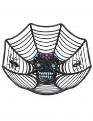Svart skål i Dia de los Muertos-stil - Halloweenpynt 26 cm