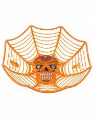 Orange serveringsskål i Dia de los Muertos-stil