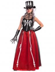 Skelettklänning till de dödasbal - Halloweenkostymer för vuxna