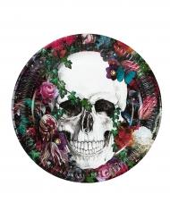 Dia de los Muertos - 8 kartongtallrikar till Halloweendukningen