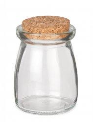 Rustisk liten glasburk med kork 8 cm