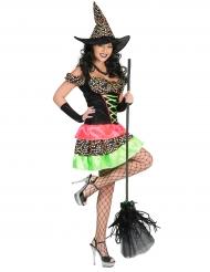 Prickig häxdräkt till Halloween eller påsk för vuxna
