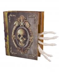 Häxans bok med trollformler - Halloweendekor med ljud och ljus 16 x 20 cm