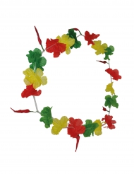 Supporterhalsband grön/gul/röd