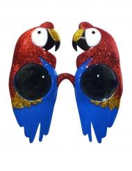 Glasögon med glitter-papegoja