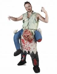 Rider på en zombie - Carry me maskeraddräkt för vuxna