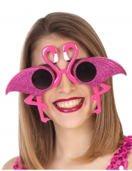 Rosa flamingo-glasögon vuxen