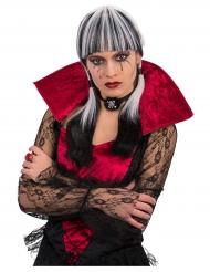 Svartvit goth - Halloweenperuk för vuxna