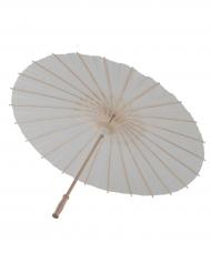 Vitt paraply i papper - Maskeradtillbehör
